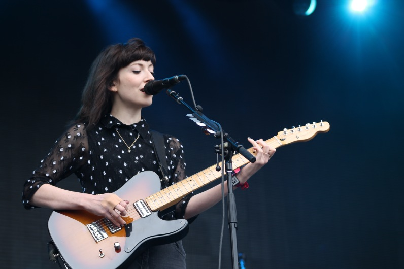 Elena Tonra, lead singer and guitarist of English band Daughter during their performance at Landmark Music Festival Saturday on the Miller Lite stage. (Cassie Osvatics/Bloc Reporter)